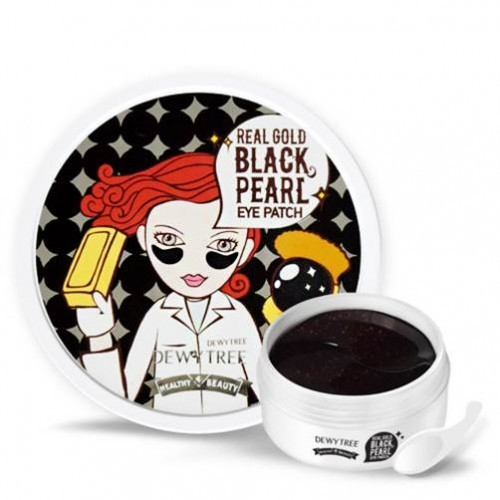 купить патчи корея для глаз черные золото с девочкой dewytree